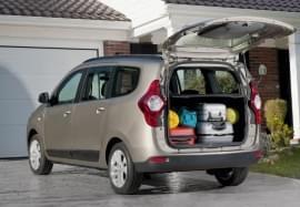 Dacia Lodgy widok bagażnika