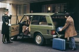 Range Rover przed hotelem