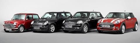 Cztery generacje Mini do czasów BMW