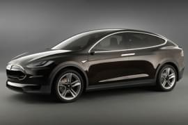 Tesla Model X – widok z przodu